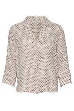 Olivia Shirt Bluse Langärmlig Creme NOTES DU NORD(114153596)