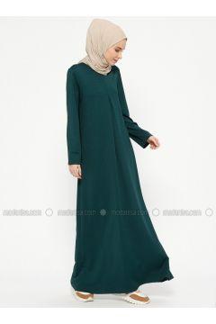 Green - Crew neck - Unlined - Dresses - Almera(110317923)