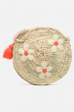 Etincelles - Sac rond bandoulière motif fleur - Handtaschen / beige(111575306)