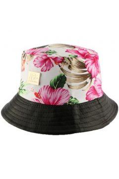 Chapeau Jbb Couture Bob florale Ecru avec revers similli cuir(98755123)