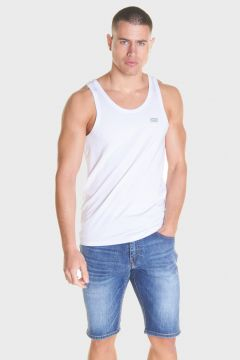 883 Police Cotton Tion Jersey White Mens Vests(116950327)