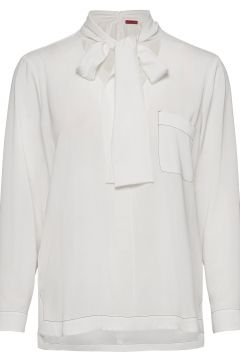 Cinona-1 Bluse Langärmlig Weiß HUGO(121387852)