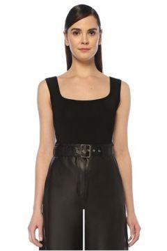 Beymen Collection Kadın Siyah Kare Yaka Çelik Örgü Triko Body XL(108010457)