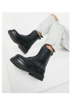 Truffle Collection - Stivali con suola spessa e zip frontale nero coccodrillo(123472434)