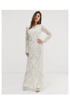 A Star Is Born - Vestito da sposa lungo decorato-Bianco(120333667)