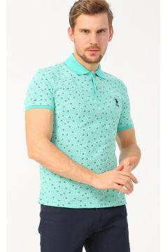 U.S. Polo Assn. Polo Yaka Desenli Mint T-Shirt(113991130)