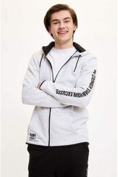 DeFacto Erkek Kapüşonlu Sporcu Sweatshirt(119061592)