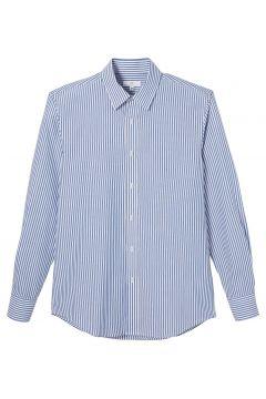 Camisa recta, manga larga a rayas(120848206)