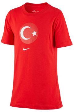 Nike Tur B Nk Tee Evergreen Crest Çocuk Sweatshirt Kırmızı(124574853)