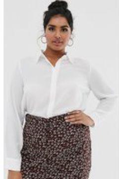 Glamorous Curve - Legeres Hemd mit Vintage-Spitzenbordüre - Cremeweiß(90474003)