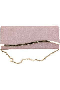 Pochette Made In Italia rosa textile or AB991(115545453)
