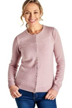 Gilet Woolovers Cardigan luxueux à col rond lilas chiné(115543794)