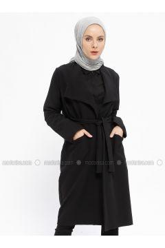 Black - Unlined - Shawl Collar - Viscose - Topcoat - XTREND(110329271)