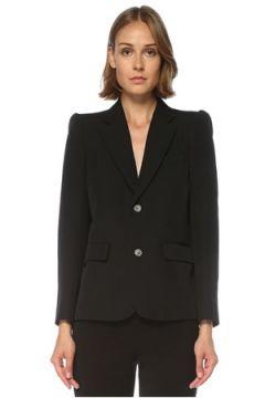 Balenciaga Kadın Siyah Kelebek Yaka Karpuz Kol Yün Ceket 42 FR(121299443)