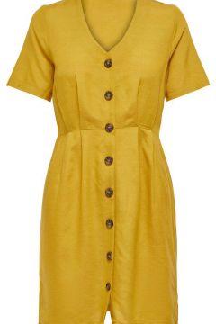 ONLY Knopfdetail Kleid Damen Gelb(113744414)