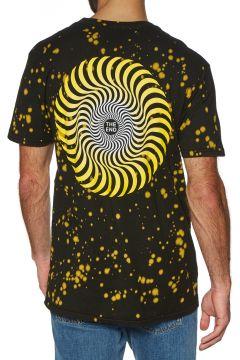 Spitfire Classic Swirl Fade Splatter Kurzarm-T-Shirt - Black Yellow Splatter(100274313)