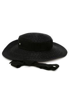 Inverni Kadın Siyah Bantlı Hasır Şapka EU(114438722)