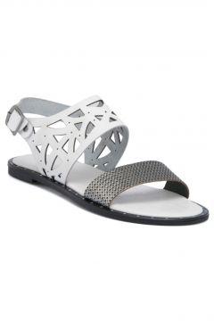 Tergan Beyaz Deri Kadın Sandalet 64536D4Y(117591246)