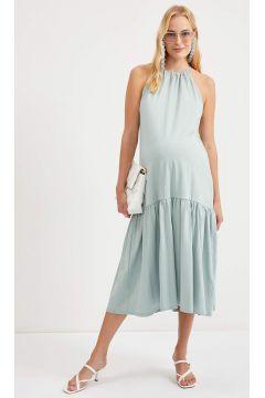 DeFacto Kadın Askılı Büzgülü Hamile Elbise(125931789)