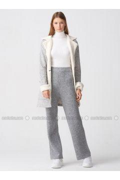 Gray - Pants - Dilvin(110343552)