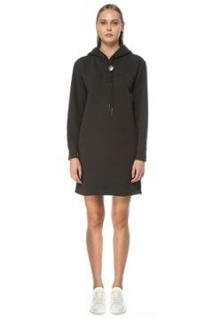 Polo Ralph Lauren Kadın Siyah Kapüşonlu Mini Sweatshirt Elbise S EU(124437927)