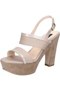 Sandales Albano sandales beige cuir daim BZ609(115398880)
