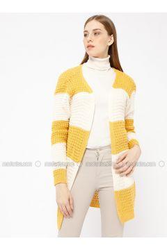 Mustard - Stripe - Acrylic -- Cardigan - Meliana(110331020)