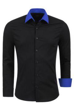 Chemise Kc 1981 Chemise fashion pour homme Chemise 1123 noir et Bleu(115404225)