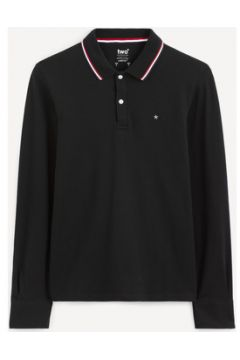T-shirt Celio Polo manches longues NECETWOML BLACK(115598132)