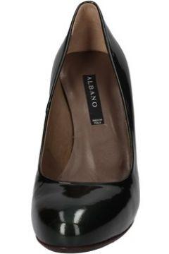 Chaussures escarpins Albano escarpins vert cuir verni AD46(115393679)