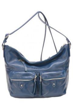Sac Bandouliere Mocca Sac porté travers en cuir ref_ast43236 bleu(88519706)