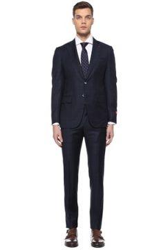 Isaia Erkek Drop 8 Lacivert Yün Takım Elbise 50 IT(107864061)