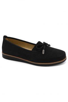 Wanetti Kadın Siyah Loafer Ayakkabı(120898661)