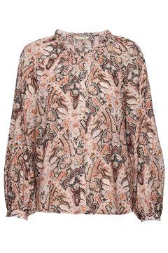 Anna Printed Blouse Bluse Langärmlig Pink ODD MOLLY(120942448)