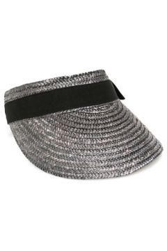 Helene Berman London Kadın Gri Bantlı Hasır Şapka EU(114438713)