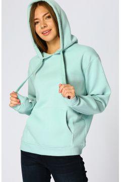 Mavi Kapüşonlu Buz Yeşil Sweatshirt(123948923)