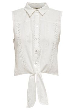 ONLY Knoopdetail Overhemd Dames White(111097377)