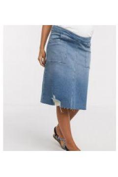 GeBe Maternity - Minigonna di jeans blu lavaggio medio con fascia sul pancione(120336744)