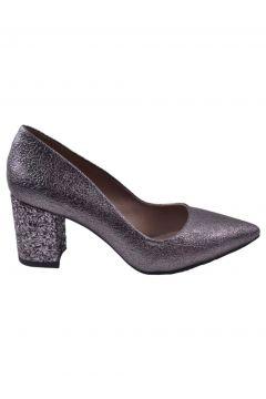 Caprito Platin Rengi Kadın Topuklu Ayakkabı(113615838)
