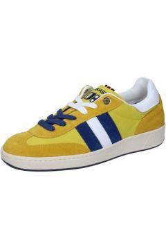 Chaussures D\'acquasparta sneakers jaune daim textile AB905(88482318)