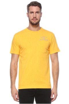 Deus Ex Machina Erkek Sarı Bisiklet Yaka Cep Detaylı T-shirt S EU(124856828)
