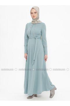 Green Almond - Crew neck - Unlined - Dresses - Laruj(110319699)