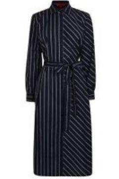 Hugo Striped Shirt Dress - Navy 464(111095110)