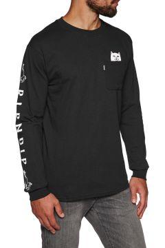 T-Shirt à Manche Longue Rip N Dip Lord Nermal Pocket - Black(111333241)