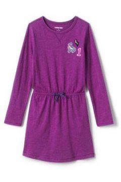 Jerseykleid mit elastischem Kordelzug für kleine Mädchen - Rot - 98/104 von Lands\' End(108056675)