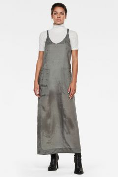 G-Star RAW Women Slip Dress Grey(117926582)