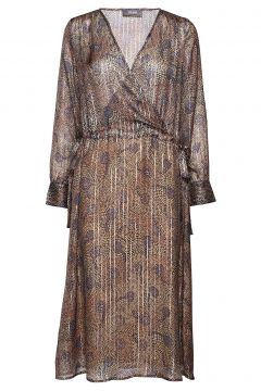 Chita Peacock Dress Kleid Knielang Braun MOS MOSH(114164271)