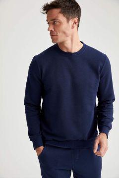 DeFacto Erkek Bisiklet Yaka Regular Fit Sweatshirt(125925034)