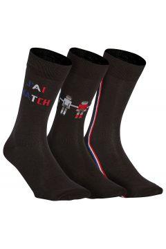 Lote de 3 pares de calcetines con motivo fútbol(116705341)