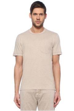 Brunello Cucinelli Erkek Bej Cep Detaylı T-shirt L EU(128052013)